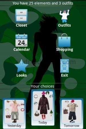 foto aplicativo android para montar look