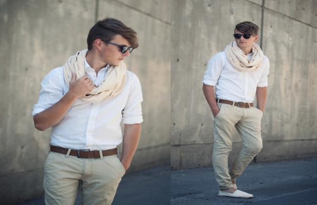 como usar echarpe masculino