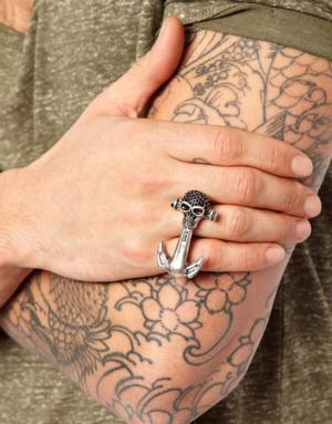 anel de dois dedos caveira masculino