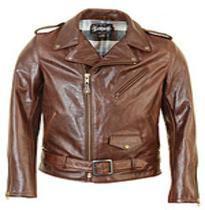 jaqueta perfecto masculina de couro marrom
