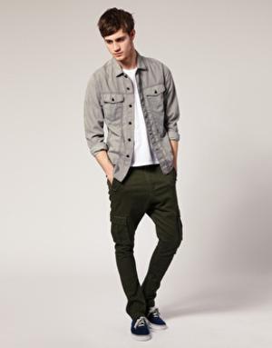 calça cenoura masculina jeans