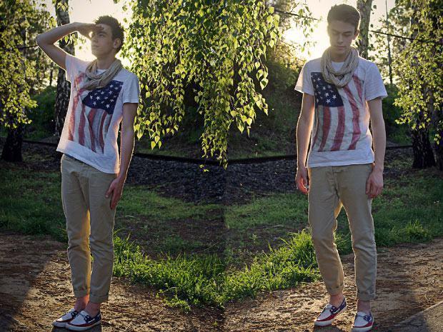 camiseta bandeira americana