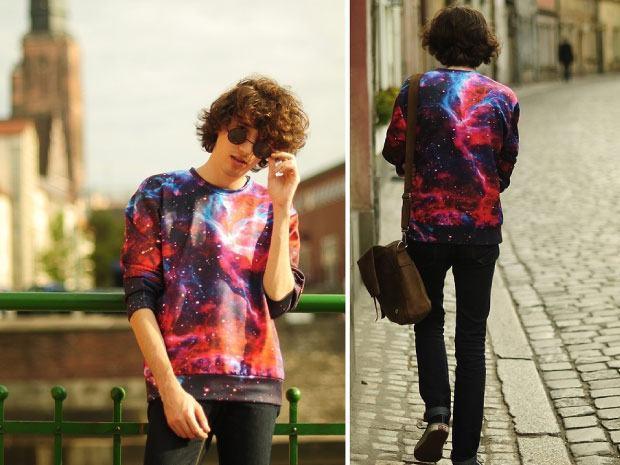 casaco galaxy print