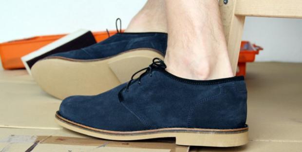 sapato de camurça masculino