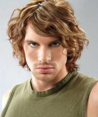 cabelo desfiado ondulado masculino