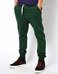 calça moletom baggy masculina verde