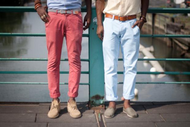 calças curtas masculinas