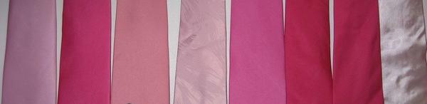 cores de gravatas rosas
