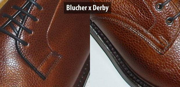 diferença blucher e derby