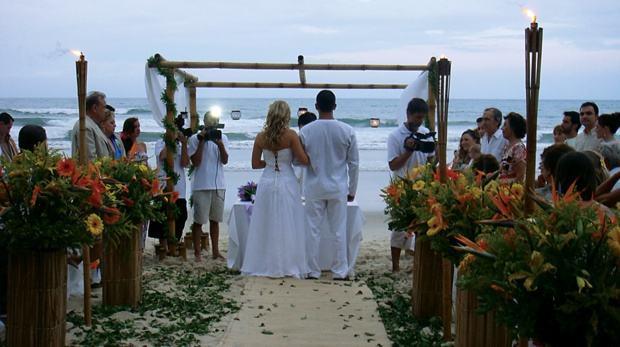 roupa casamento na praia