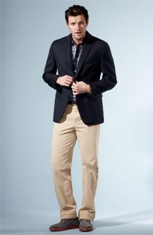 blazer e camisa polo combina