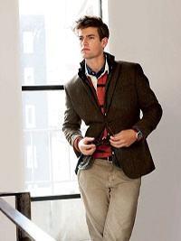blazer e camisa polo
