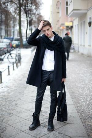 bota cano longo inverno masculino