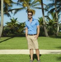 camisa individual azul masculina