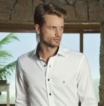 camisa social individual branca masculina