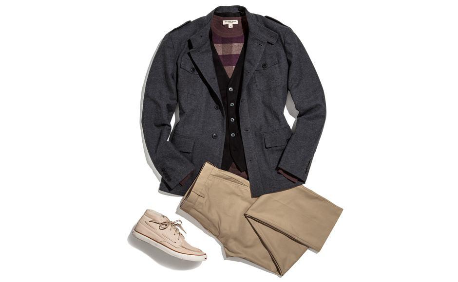 combinar colete com blazer