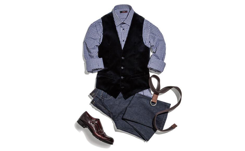 combinar colete com camisa social quedriculada