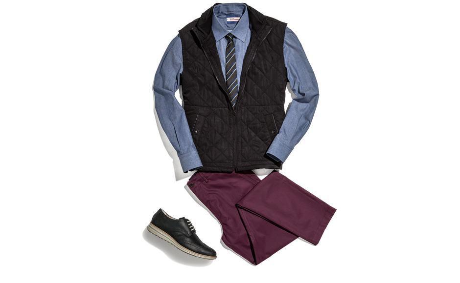 combinar colete com gravata