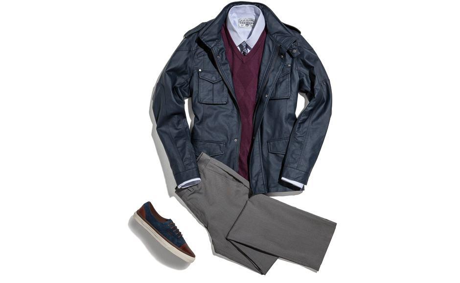 combinar colete de lã com casaco