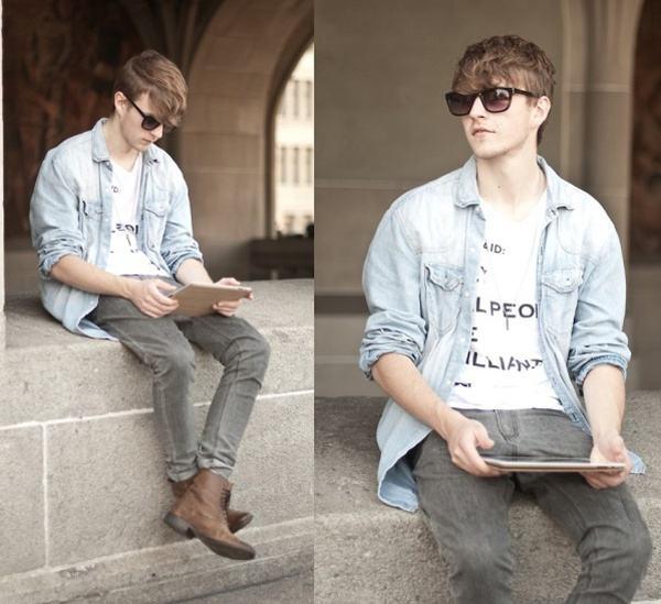 jaqueta jeans delavê