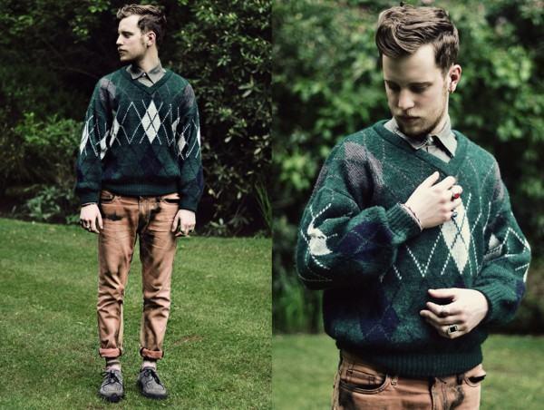 look suéter argyle