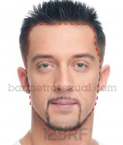 saber formato do rosto masculino