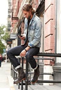 tecido jeans delavê