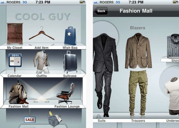 app de moda masculina iphone