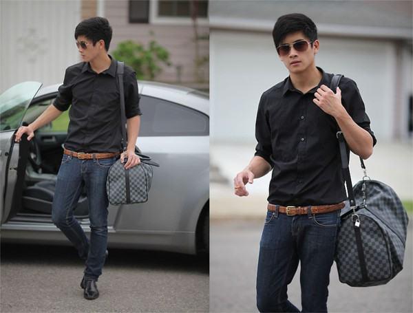 como usar camisa social preta