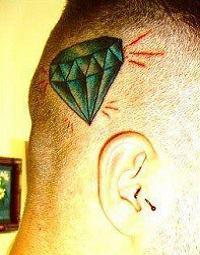 tatuagem mateus verdelho na cabeça