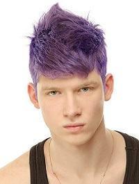 cabelo colorido roxo homem