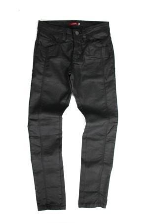 calça encerada masculina preta