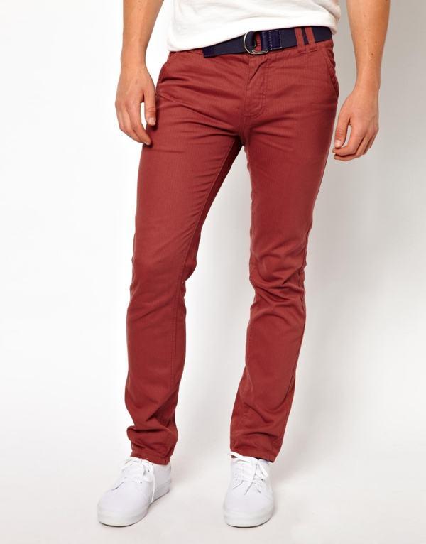 calça tipo chino tecido
