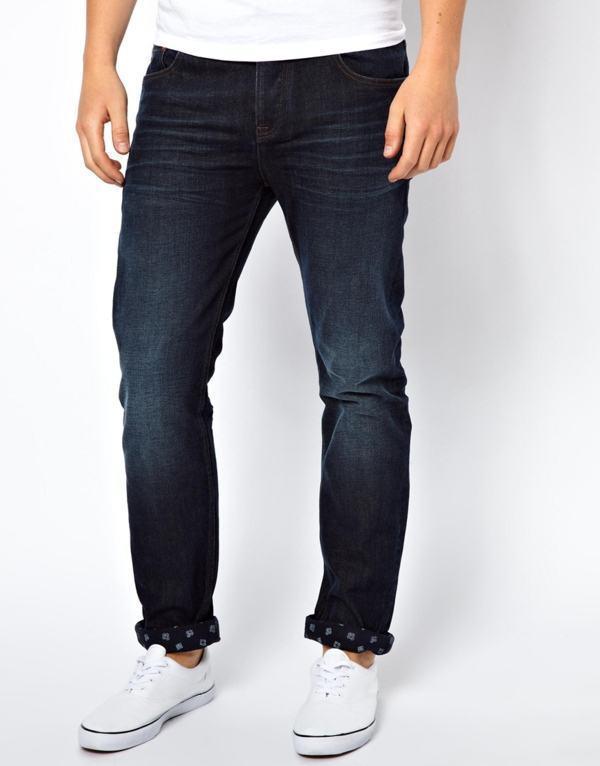 calça tipo jeans tecido