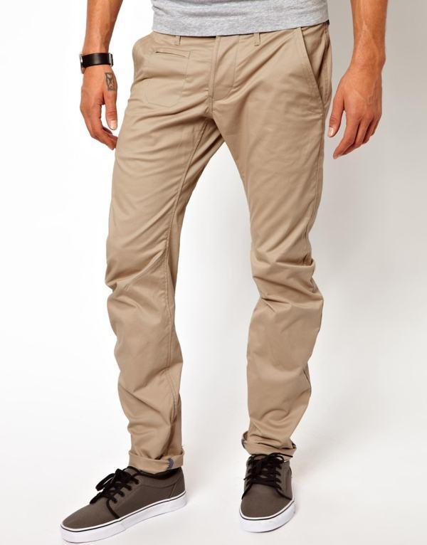 calça tipo sarja tecido