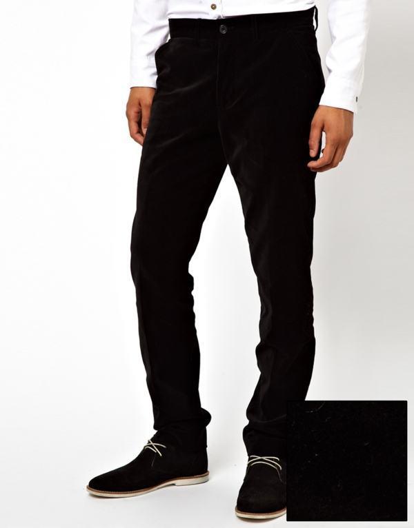 calça tipo veludo tecido