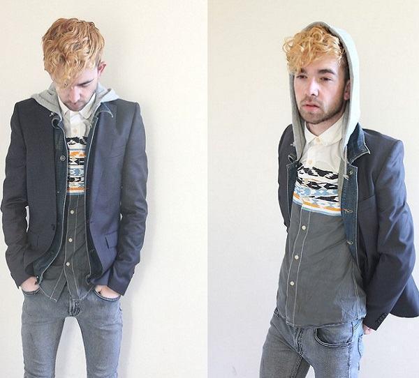 como usar blazer com capuz