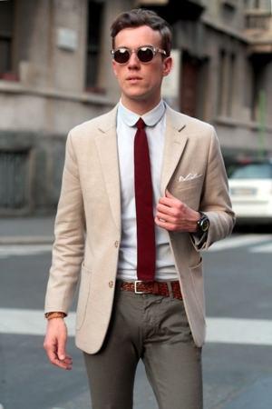 gravata ponta reta