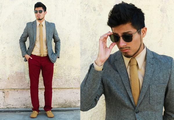 gravata quadrada