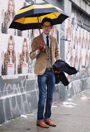 guarda chuva estampado masculino