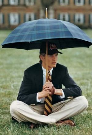 guarda chuva xadrez masculino
