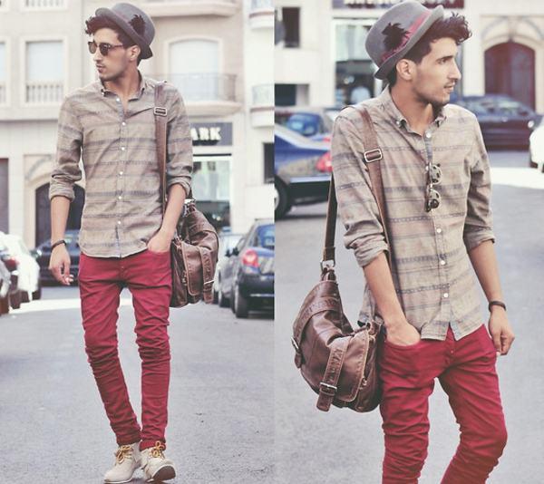 calça vermelha como usar