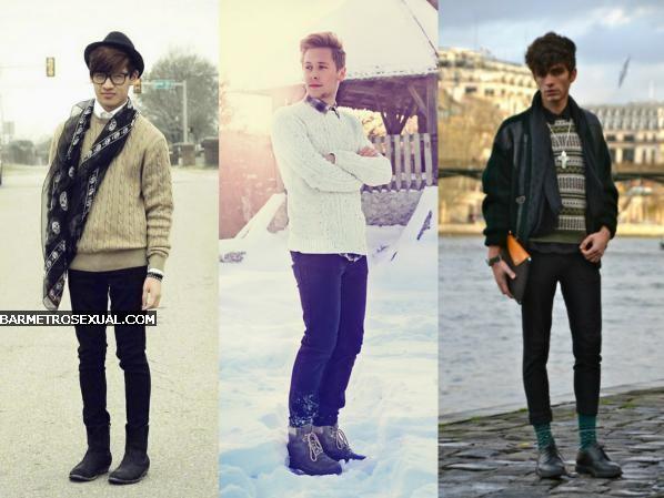 como usar casaco de tricô masculino 4