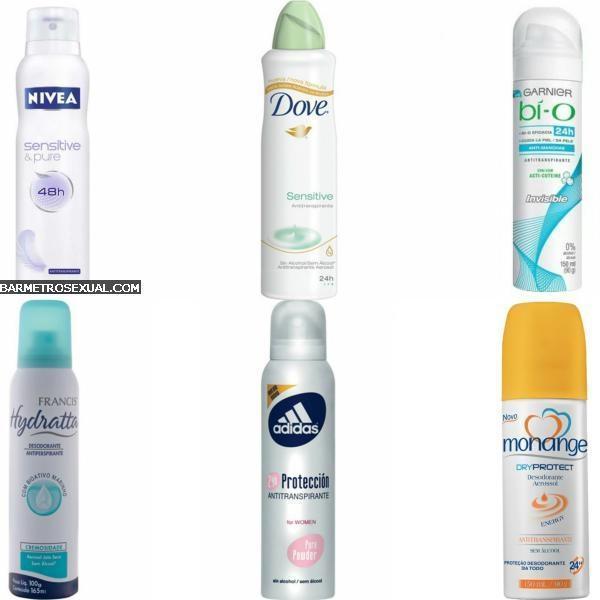 desodorante sem alcool