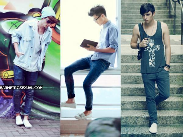 sapato branco com calça jeans