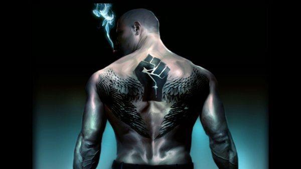 tatuagem costas pele negra