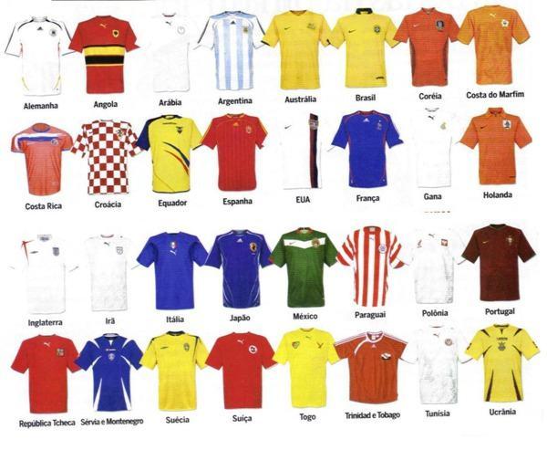 camisa das seleções da copa de 2006