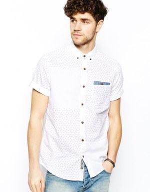camisa bolso manga curta