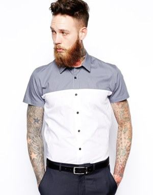 camisa manga curta social