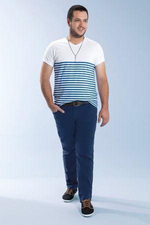 marca de roupa para homens gordos